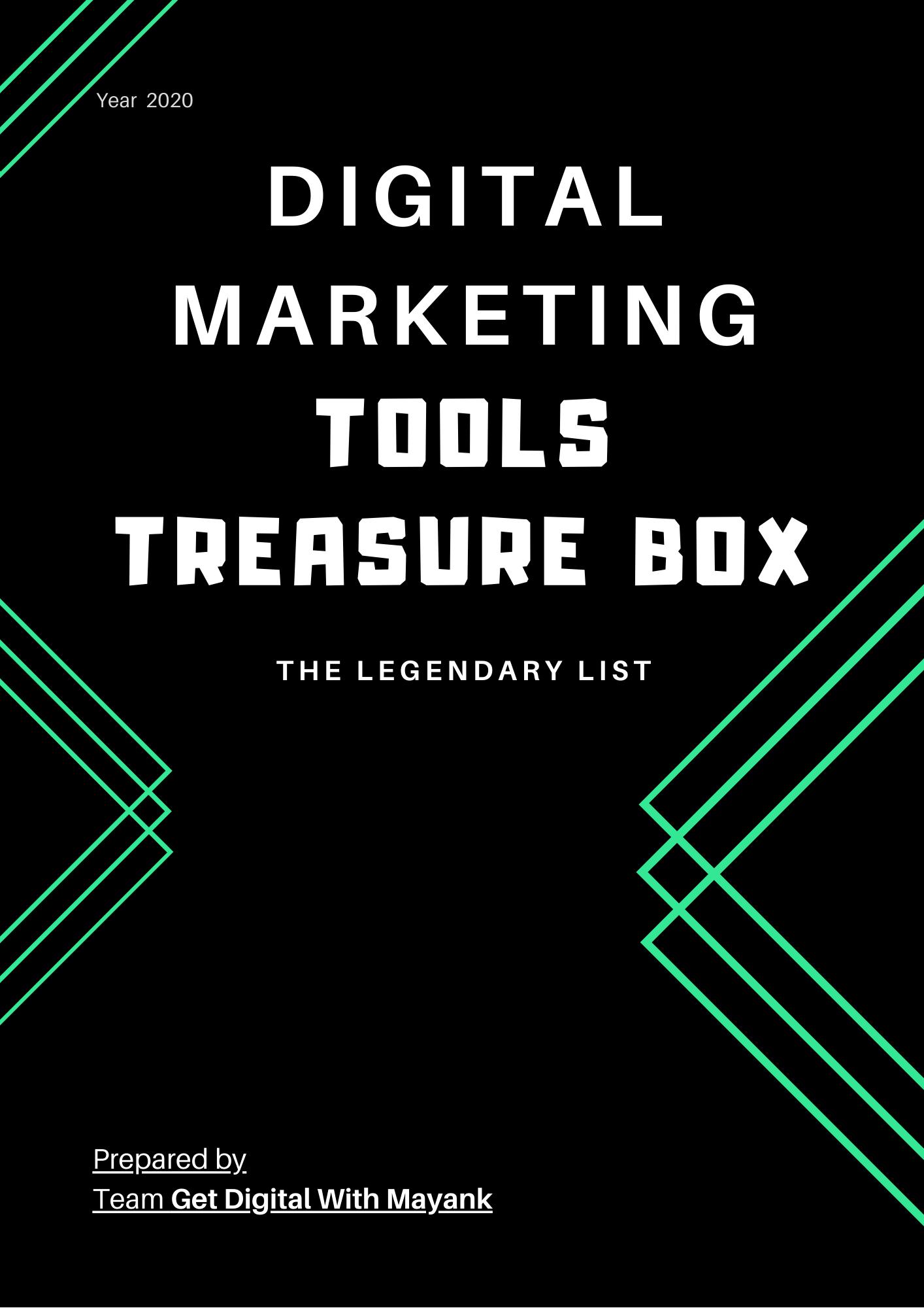 Legendary Digital Marketing Tools list - Get Digital With Mayank